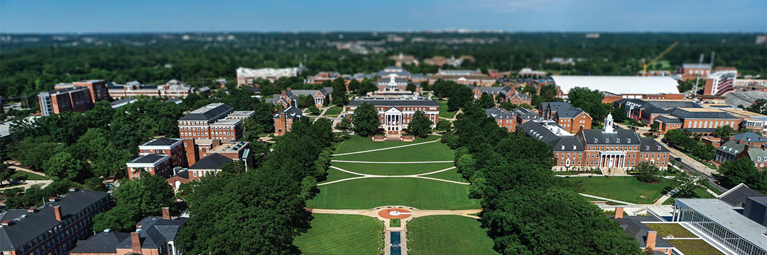 University of Maryland campus aerial image