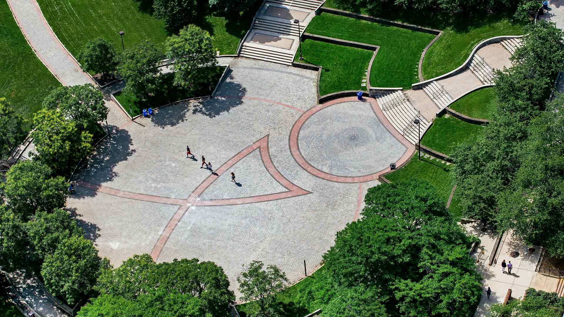Aerial of Hornbake Plaza