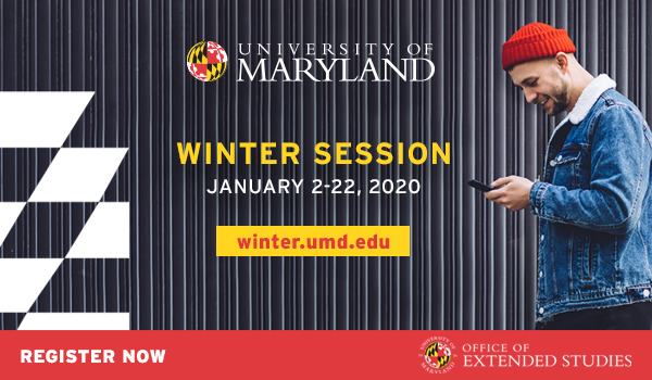 Register Now for UMD's Winter Session