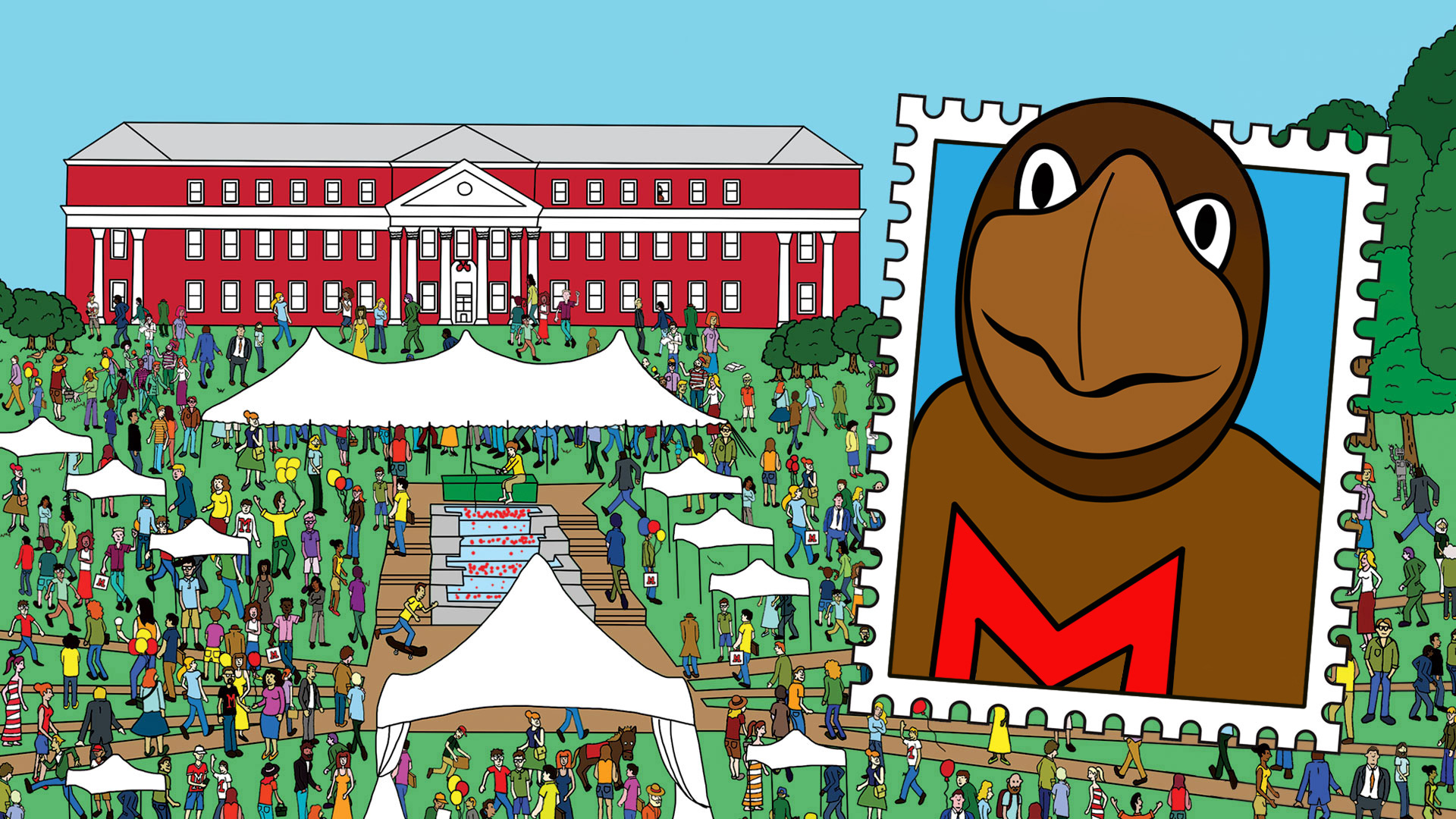 Find Testudo in this Maryland Day Scavenger Hunt