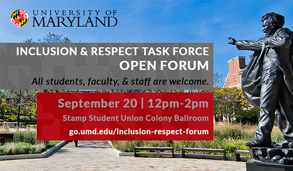 Open Forums For The Joint President Senate Inclusion And Respect Task Force