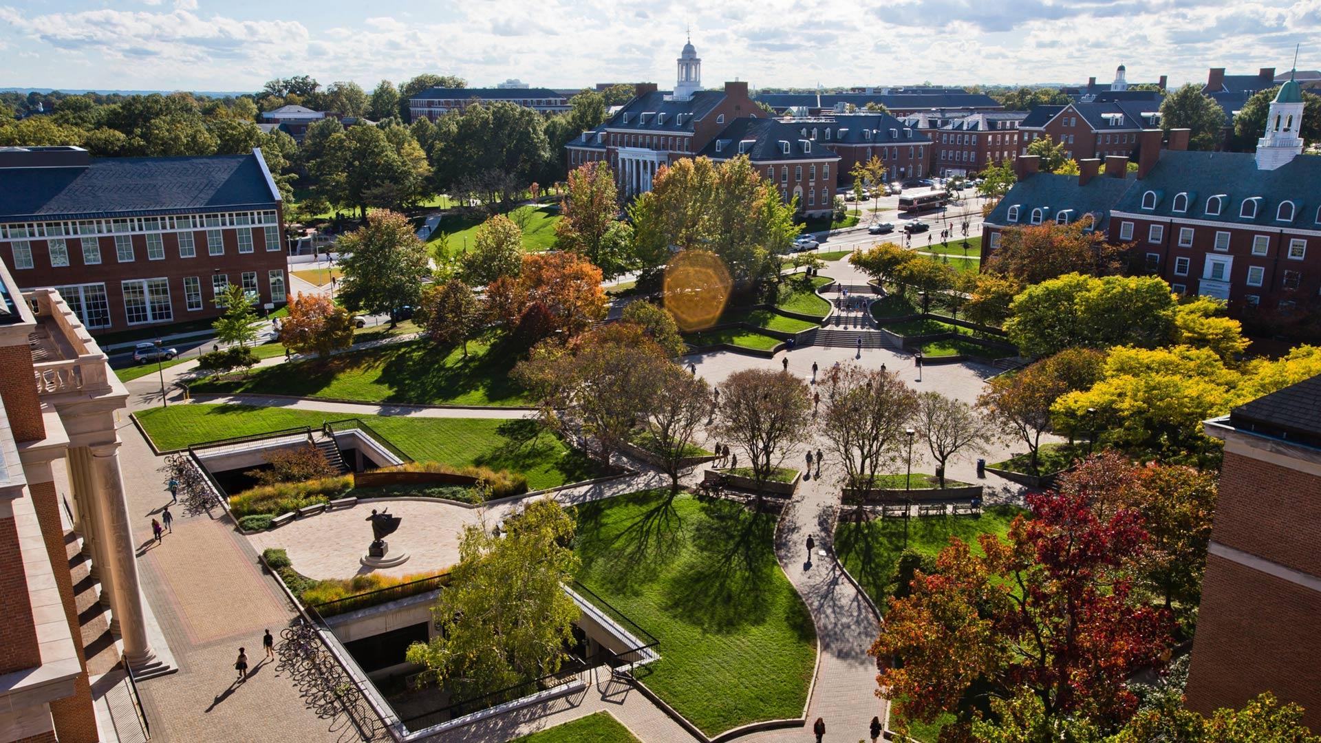 Hornbake Plaza in Autumn