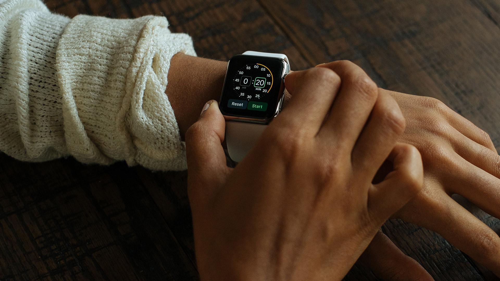 Smart Watch on a wrist