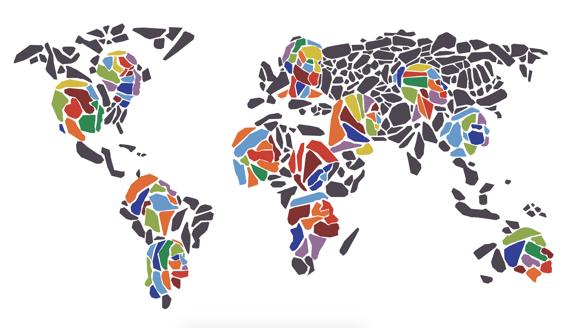 Illustration of the world map by Brian G. Payne