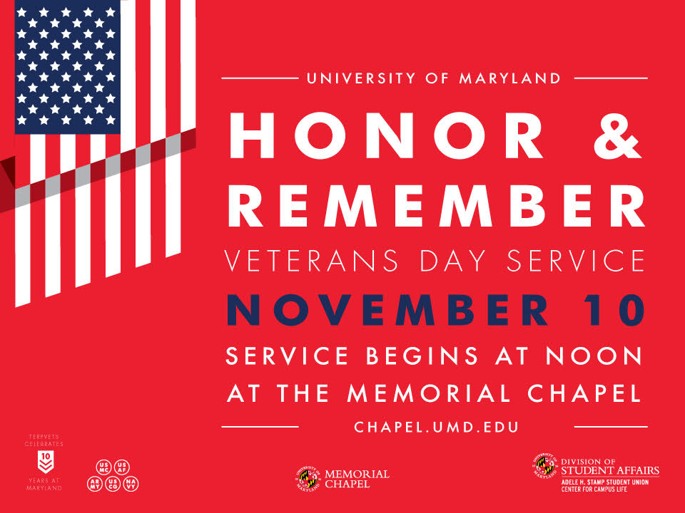 Celebrate and commemorate the UMD Veteran legacy